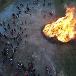 Osterfeuer in Blankenburg