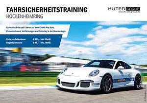 Die mobile Cafe-Bar auch in diesem Jahr als Partner beim Fahrsicherheitstraining am Hockenheimring